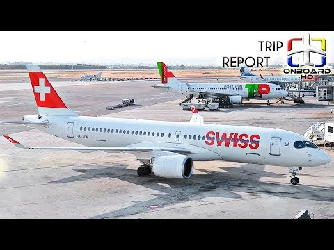 TRIP REPORT | Swiss Business class | NEW Airbus A220 | Madrid – Zurich