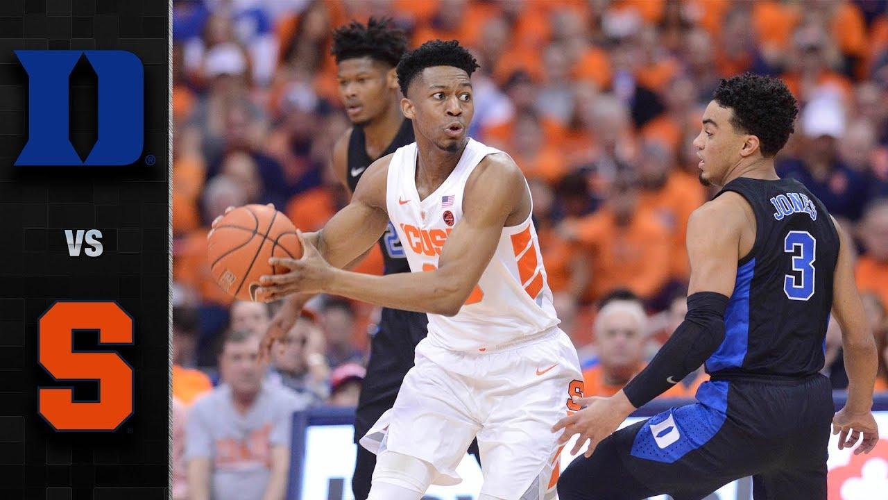 Duke Vs. Syracuse Basketball Highlights (2018-19)