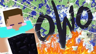 "Why is there a giant ""OWO"" on 2b2t?"