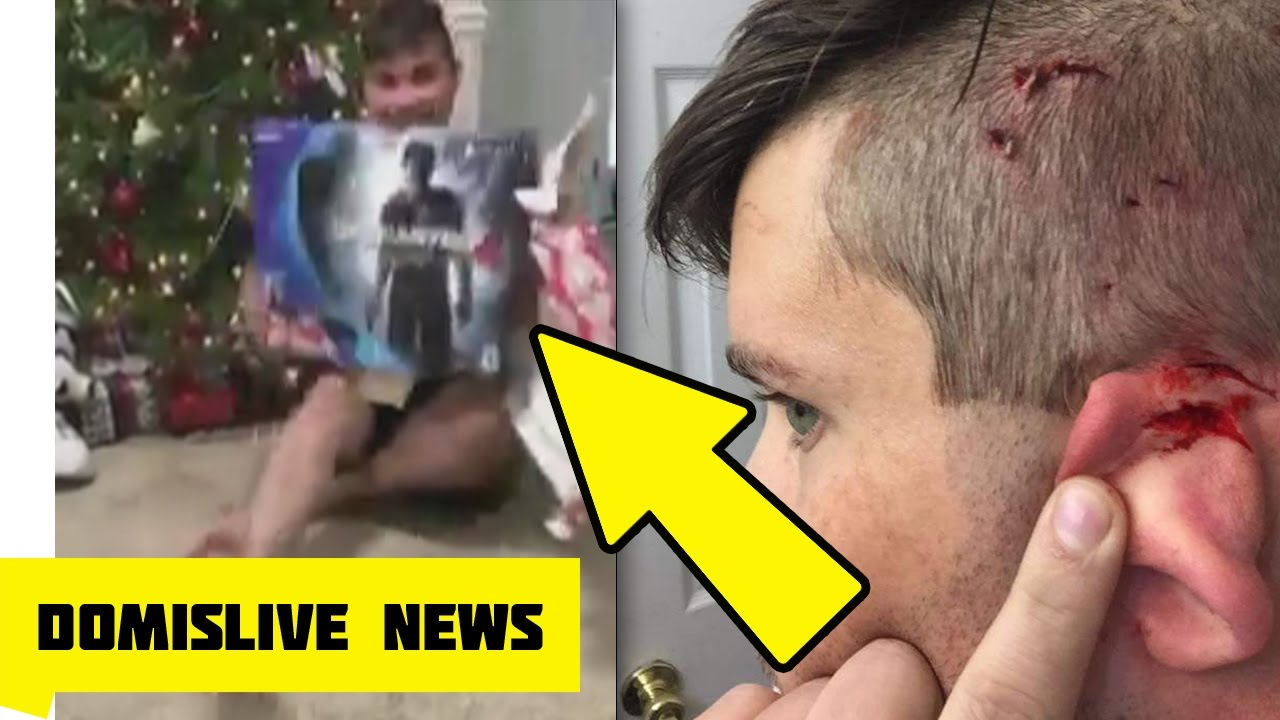 Cat Jumps And Attacks Man Opening PS4 Christmas Present on Video ...