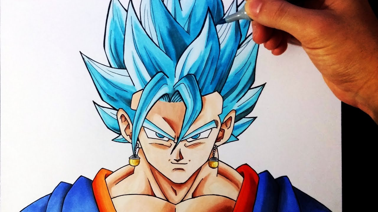 Cmo Dibujar a Vegetto SSJ Dios Azul  How to draw Vegetto Super