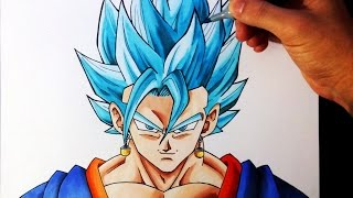 Cómo Dibujar a Vegetto SSJ Dios Azul | How to draw Vegetto Super Saiyan God Blue | ArteMaster