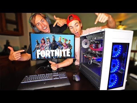 SURPRISED BROTHER WITH $3000 DREAM FORTNITE SETUP! *GAMING COMPUTER*