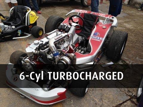 Go-Kart With 4.1 6-Cyl TURBOCHARGED ENGINE
