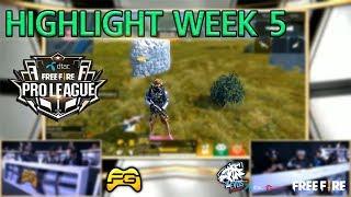 HIGHLIGHT : FREEFIRE Pro League Regular Season #WEEK5