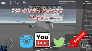 ROBLOX | 787 Orion private flight