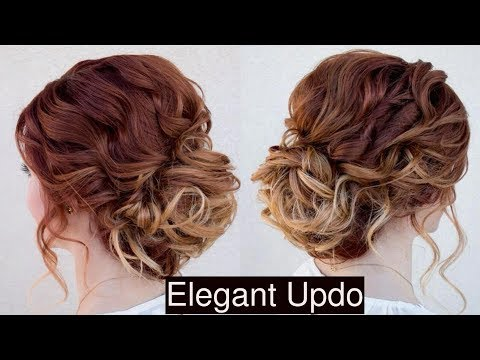 EASIEST PARTY UPDO | PROM HAIRSTYLES FOR MEDIUM LONG HAIR TUTORIAL