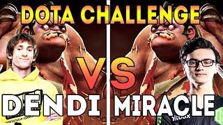 Dendi VS Miracle | Dota 2 Challenge - Pudge vs Pudge