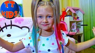 Салон Красоты для Ярославы! Красим Волосы Открываем Набор для девочек Видео для детей