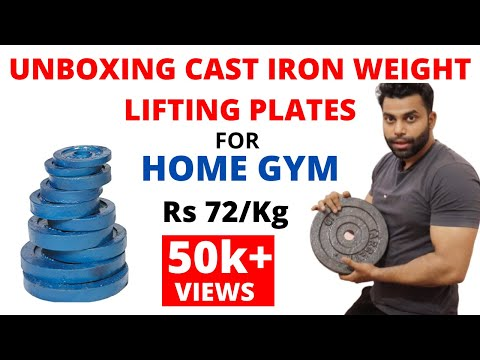 Unboxing Of Cast Iron Weight Lifting Plates | Fitness Hour | Vinay Kumar