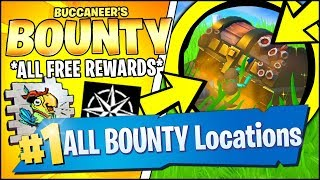 SEARCH BURIED TREASURE (DAY 2) & *ALL* REWARDS (Fortnite BUCCANEER'S BOUNTY CHALLENGES)