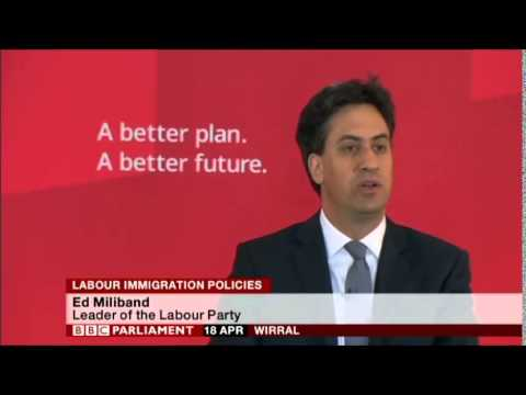 Ed Miliband speech on Labour Immigration Policy, Wirral, 18th April 2015, Pt 1