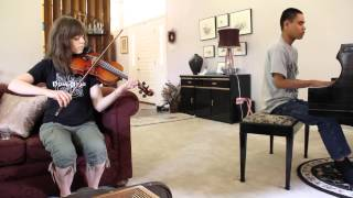 """BRING HIM HOME"" (LES MISERABLES) - LINDSEY STIRLING AND BLIND PIANO PRODIGY KUHA"
