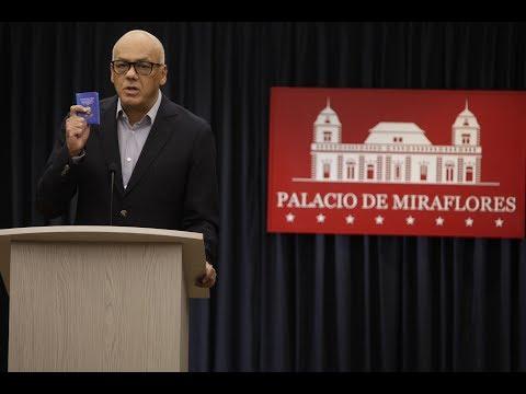 Jorge Rodríguez informa sobre liberación de Joshua Holt y su partida a Estados Unidos