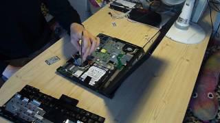 Lenovo Thinkpad X200 Tablet - hardware inside (removed keyboard and palmrest)