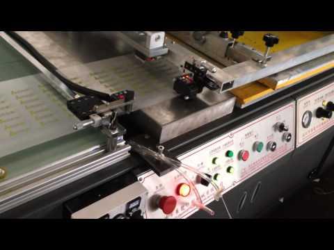 Custom PE/PET/PVC plastic film silk screen printing machine for sale