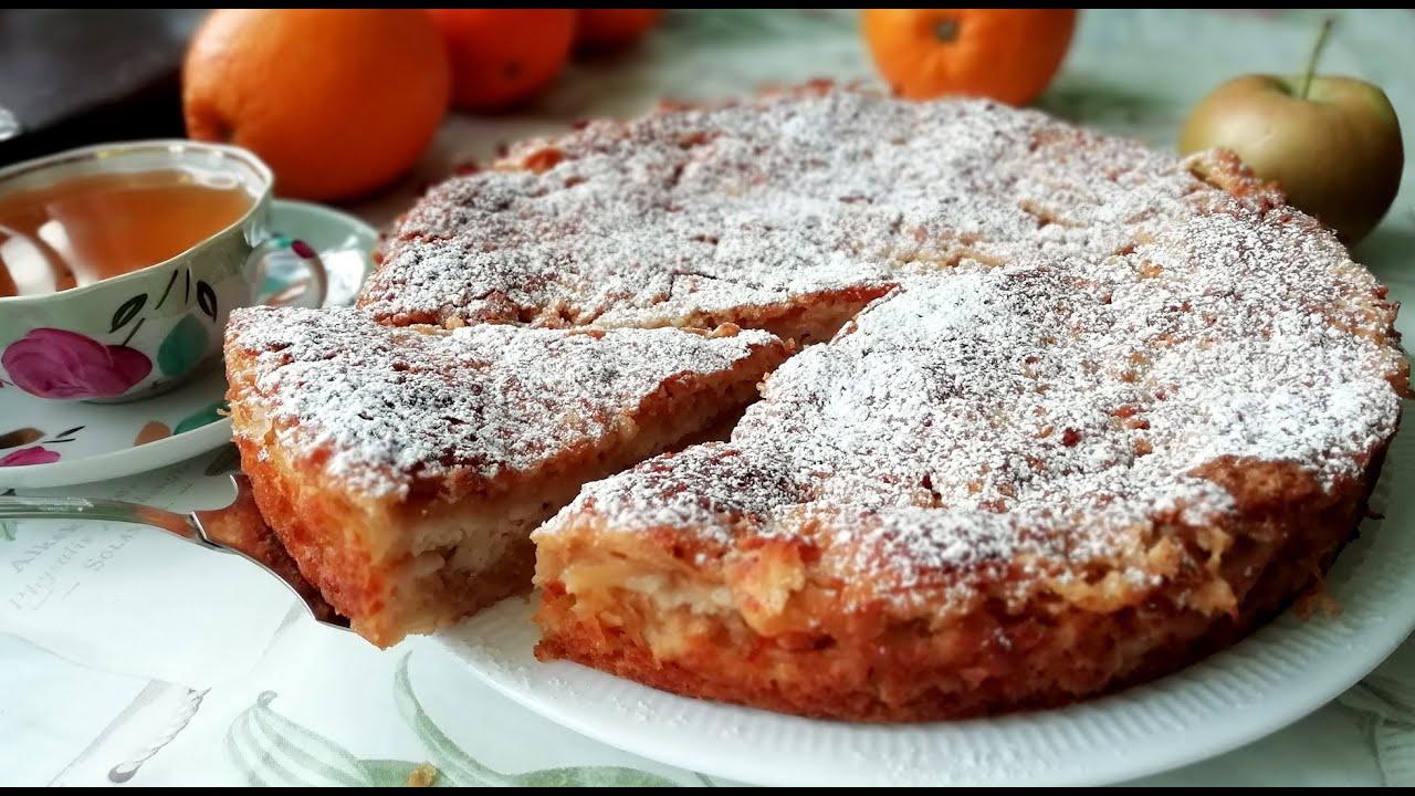 яблочный пирог из ряженки рецепт с фото высоком