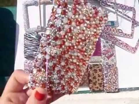 SWAROVSKI BEDAZZLED PHONE CASES AND LICENSE PLATE FRAMES! BY CRYSTAL ...