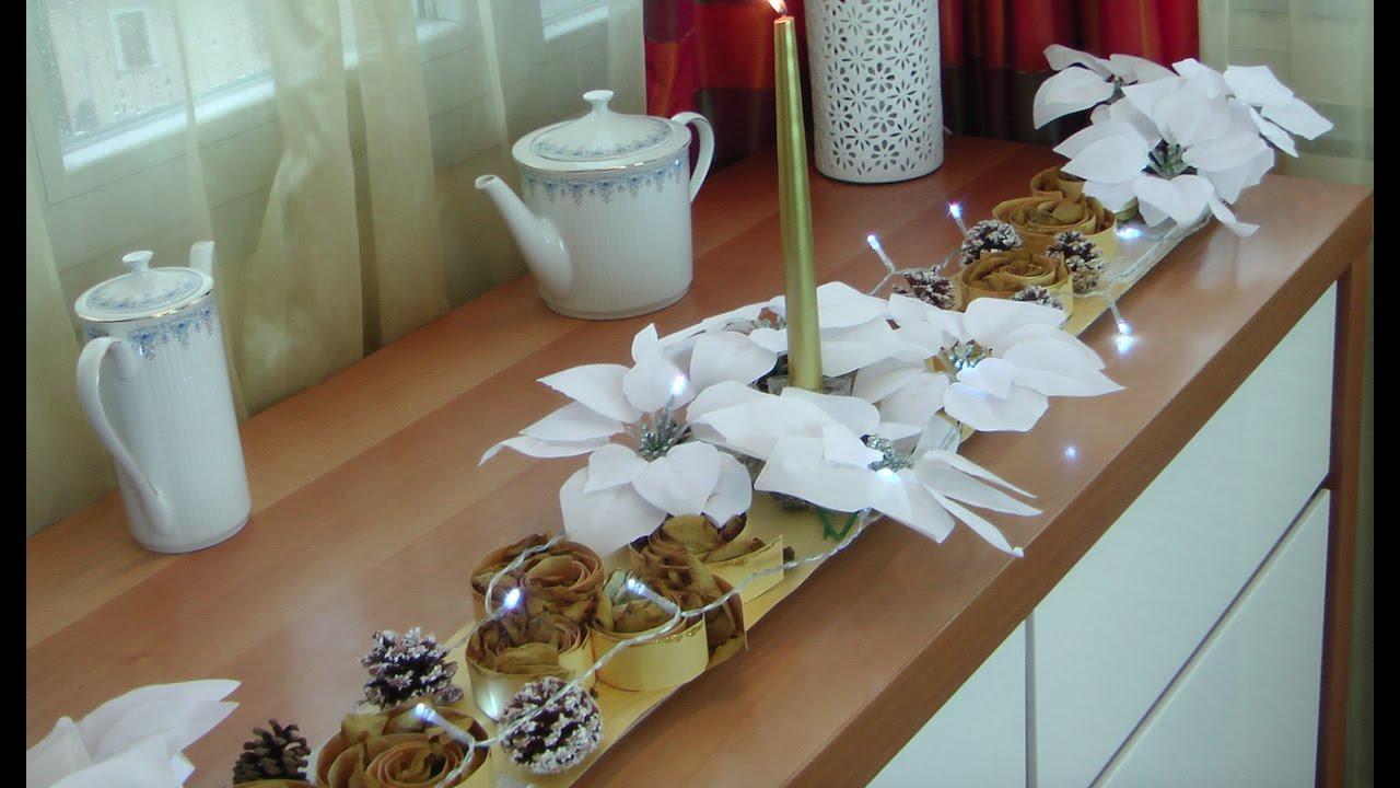 Como decorar el comedor para Navidad con Arreglo Floral. Decorate ...