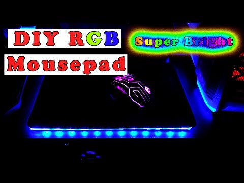 How to make DIY RGB Mousepad in Low Cost Hindi #greenpolygames