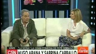 C5N -  VIVA LA TARDE: LA VISITA DE HUGO ARANA Y SABRINA CARBALLO