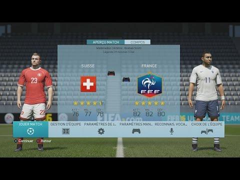 Suisse - France [FIFA 16] | UEFA EURO 2016 (Groupe A - 3ème Journée) | CPU Vs. CPU