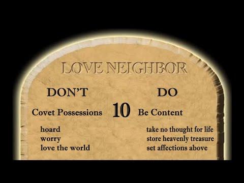 God's 10th Love Commandment Explained - Do Not Covet