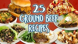 25 Ground Beef Recipes | Easy How To Recipe Compilation | Well Done