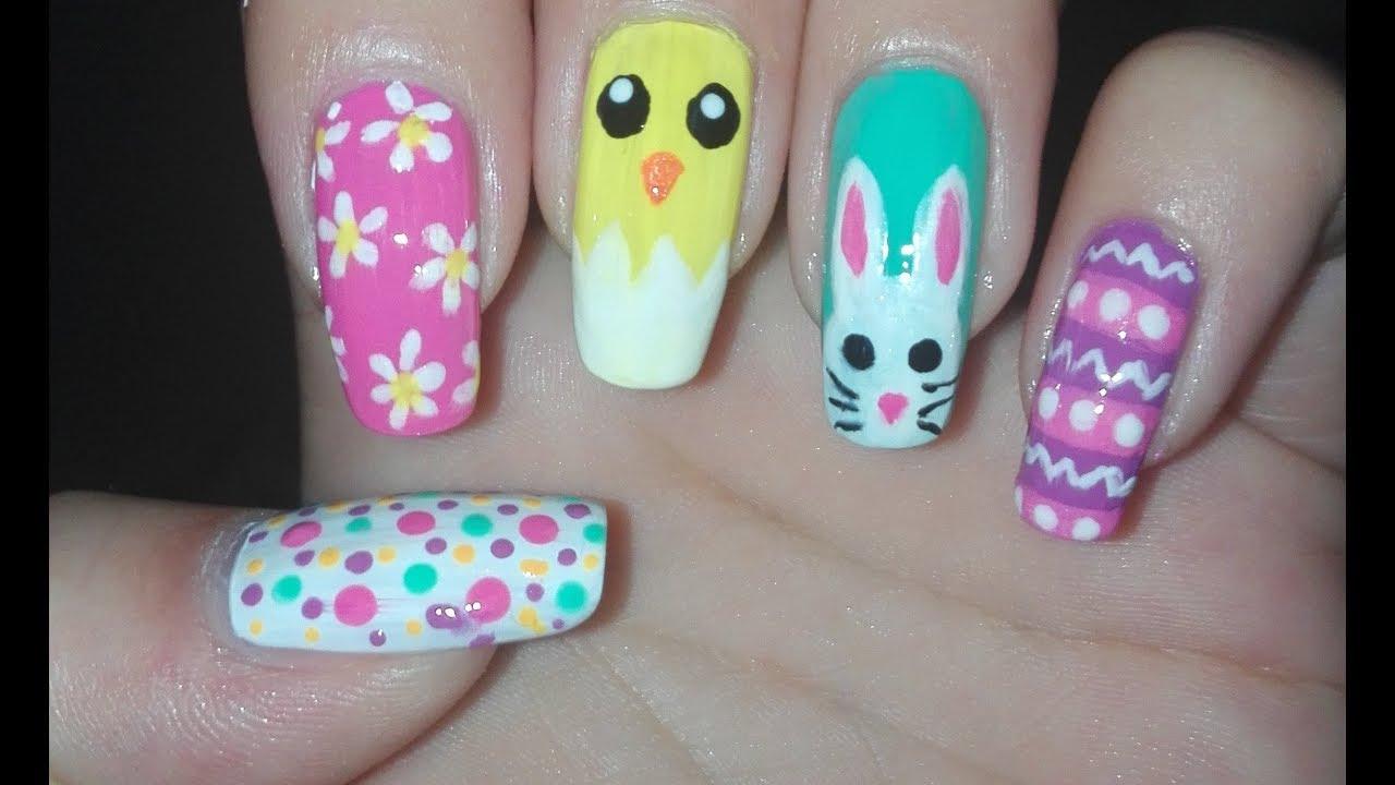 5 easter spring nail art design