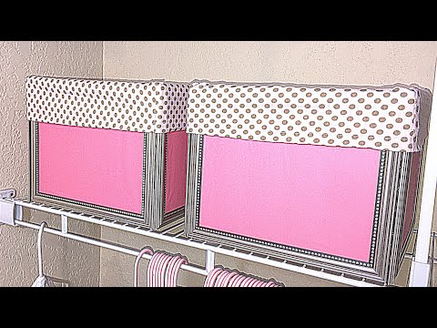 DIY FRAMED STORAGE BOX WITH FABRIC LINER