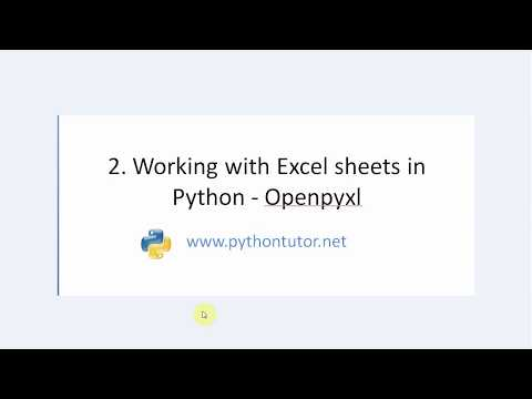 Python - How to read Excel Sheet with Openpyxl - 1