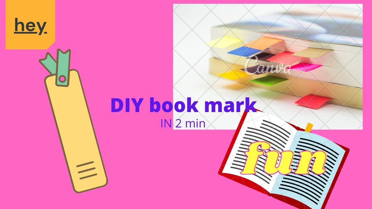|DIY| 2min Book marks easy