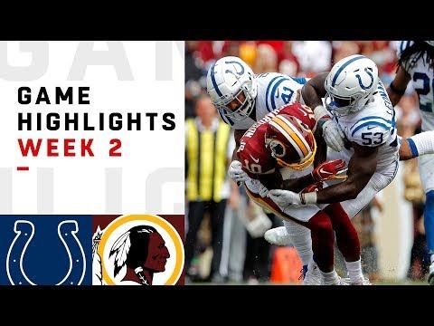 Colts vs. Redskins Week 2 Highlights | NFL 2018