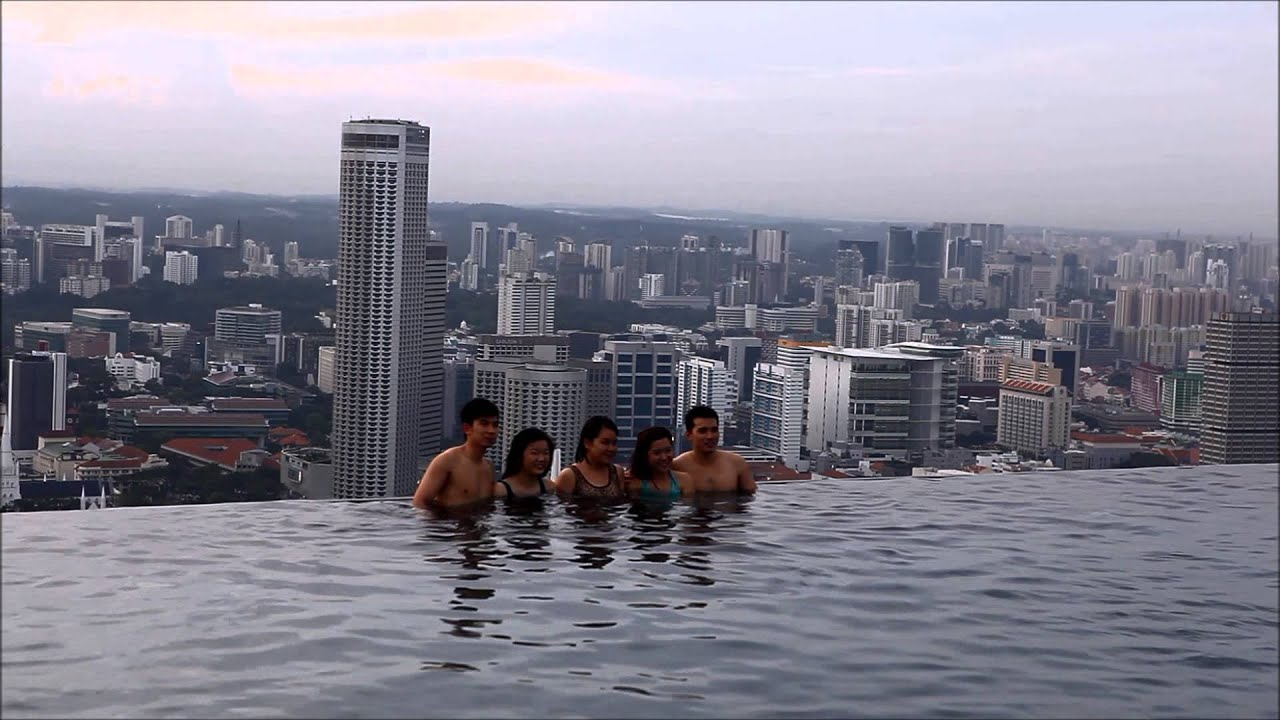 Marina bay sands hotel singapore swimming pool youtube - Marina bay sands resort singapore swimming pool ...