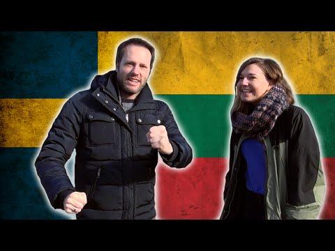 Swedish guy trying to speak Lithuanian - Language challenge