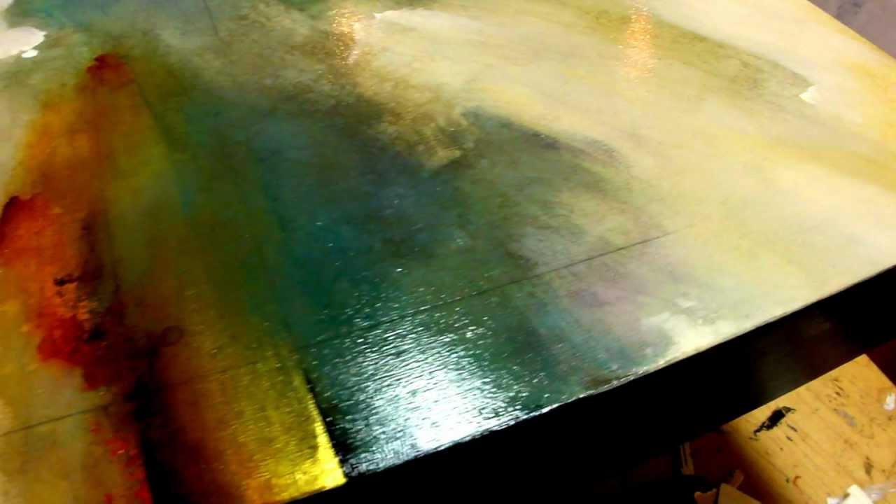 Painted Sky 25x53 Acrylic On Panel Cody Hooper Santa