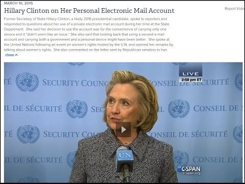 Hillary Clinton on Her Personal Electronic Mail Account at the U N