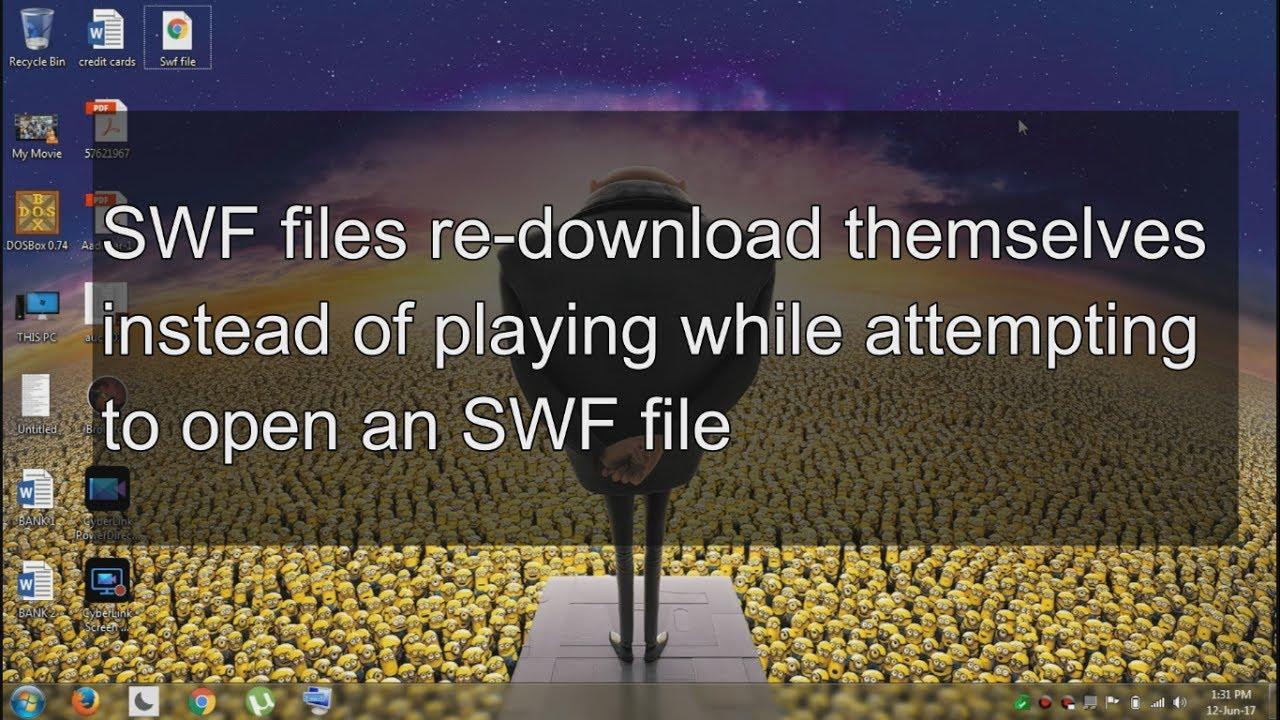open swf file in chrome