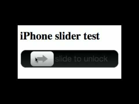 IPhone Unlock Slider With HTML Input Type=