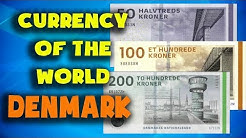 Currency of the world - Denmark. Danish krone. Danish banknotes and Danish coins