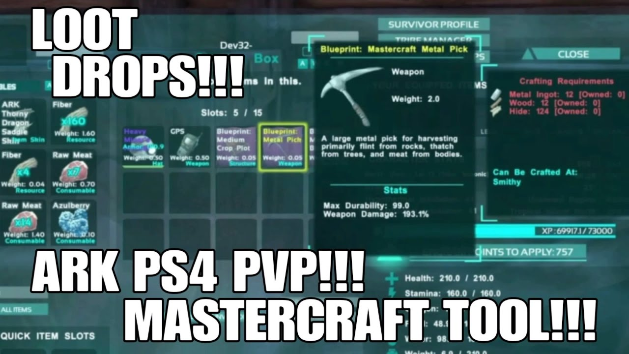 Loot drops mastercraft tool ark ps4 pvp server youtube loot drops mastercraft tool ark ps4 pvp server malvernweather Choice Image