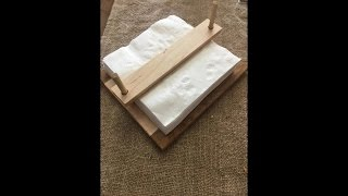 In this episode we build a napkin holder. It is a really simple project that should take less than 30 minutes to do. The idea came from