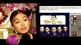 Agnez-Noah Eksis di MTV EMA - Seleb On Cam 25 September 2014