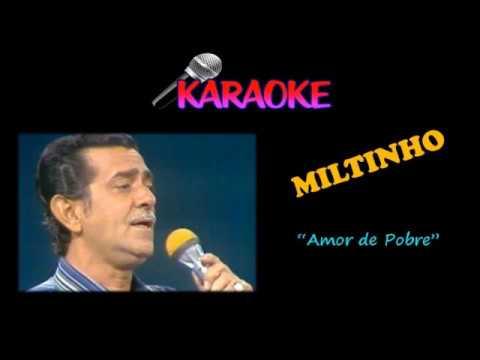 Karaoke - Bolero - Amor de Pobre - Miltinho - Autor: Pepe Ávila