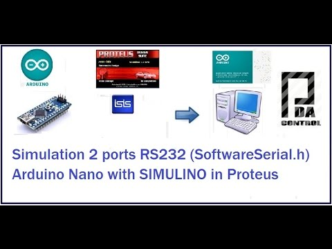Simulation SoftwareSerial.h  Arduino Nano With SIMULINO In Proteus @arduino : PDAControl
