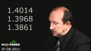 Прогноз на неделю 07.08.11 - Рынок Форекс (Forex) - MaxiForex - HD
