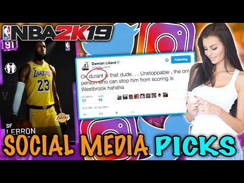 TWITTER & INSTAGRAM PICKS MY TEAM! NBA 2K19 SQUAD BUILDER