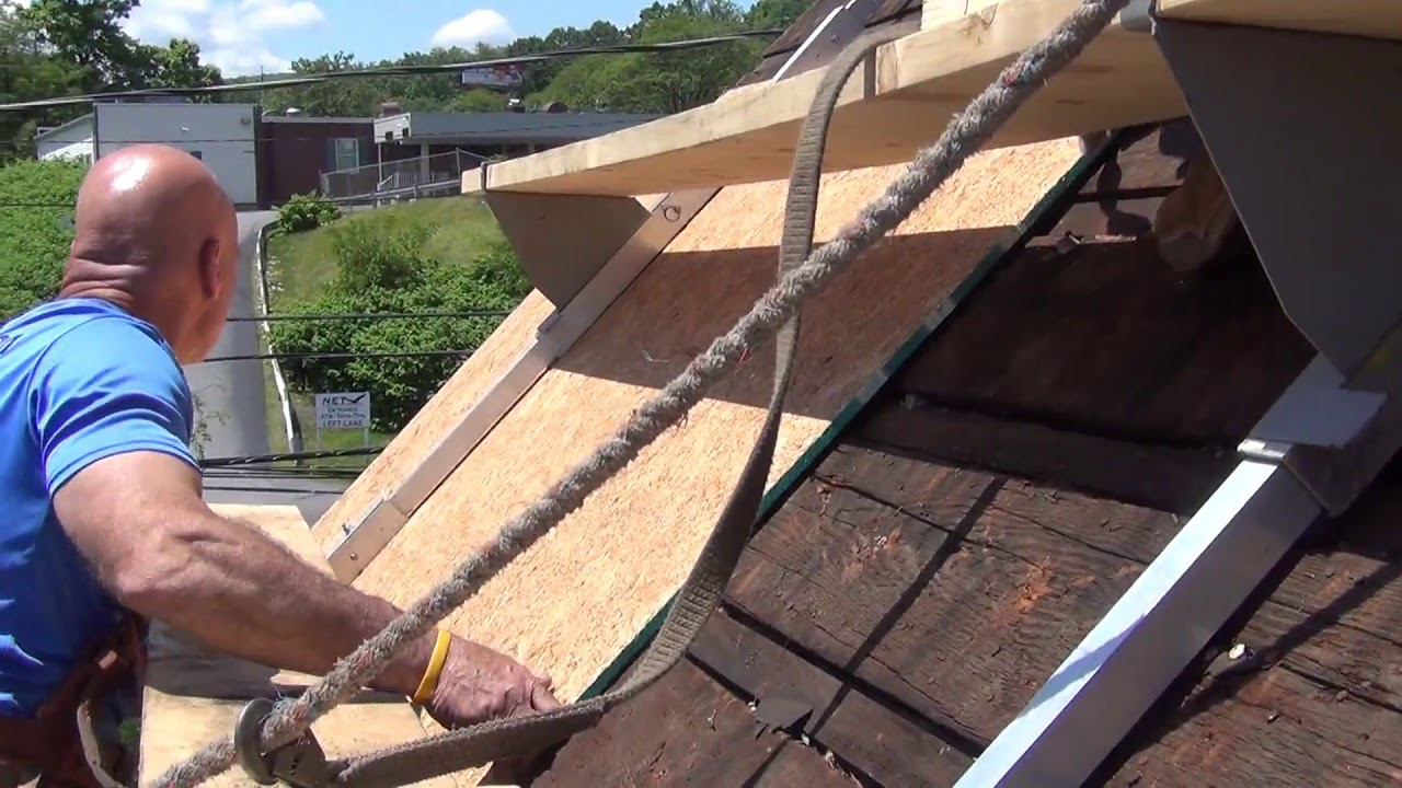Maj Roof Scaffold System For Metal Roofs Youtube