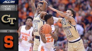 Georgia Tech vs. Syracuse Orange Condensed Game | 2018-19 ACC Basketball