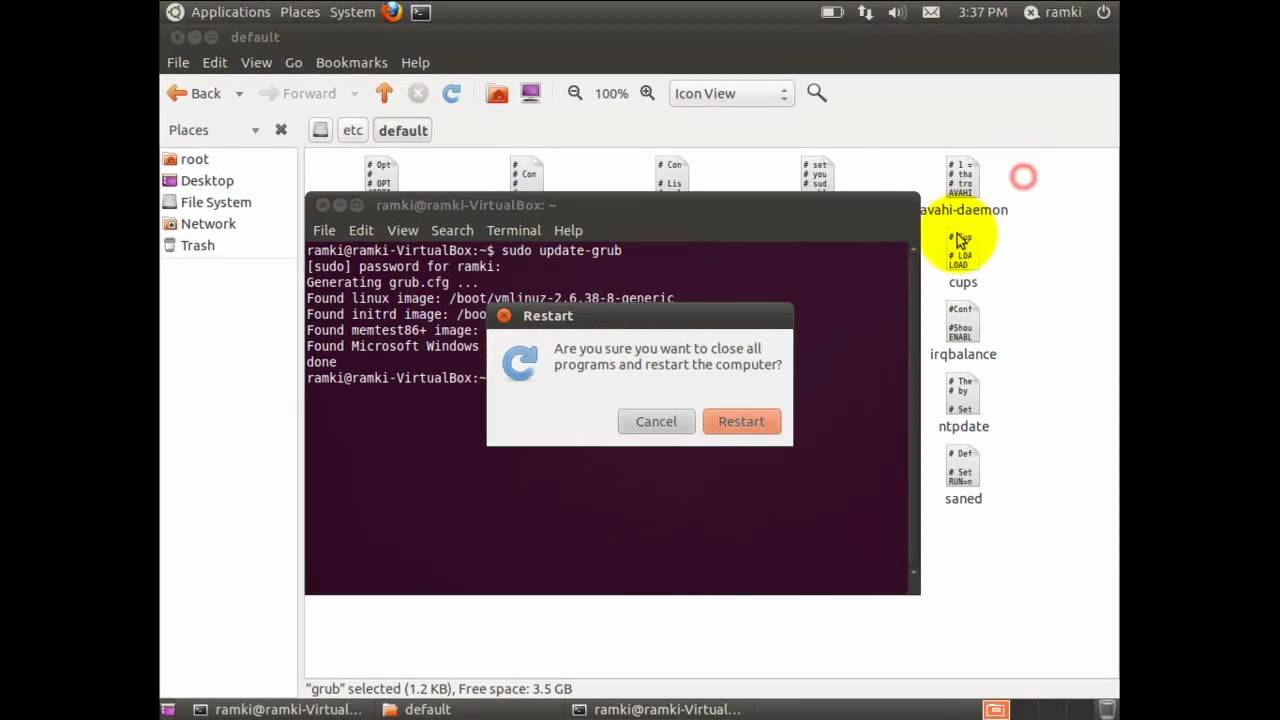 Understanding the GRUB boot loader and Customize the themes - Ramki